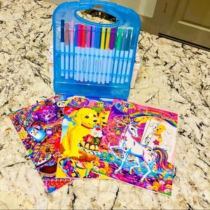 Lisa Frank Coloring/Activity Book/Markers Bundle